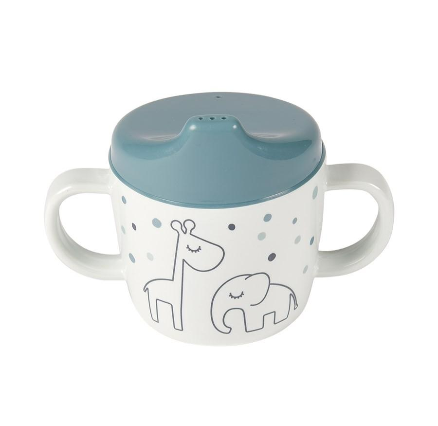 Done by Deer - 2-handle spout cup Dreamy dots Blue
