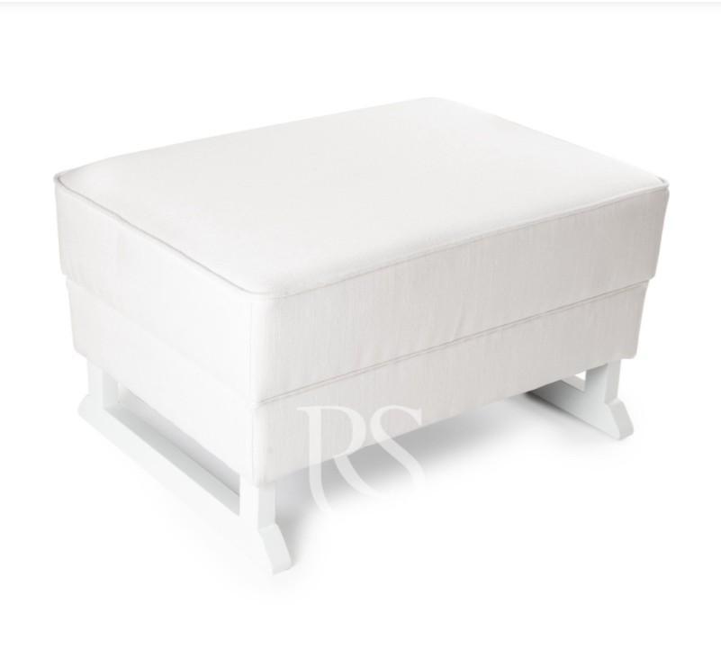Rocking Seats - Bliss Footstool snow white, white legs
