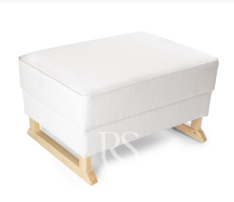 Rocking Seats - Bliss Footstool snow white, natural legs