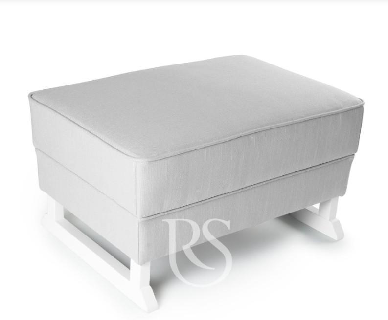 Rocking Seats - Bliss Footstool silver grey, white legs