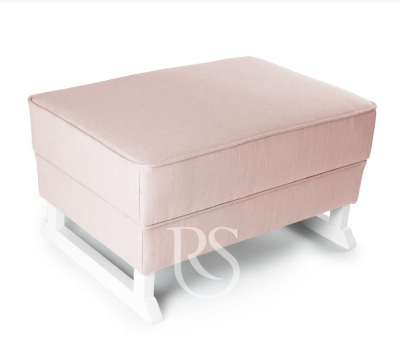 Rocking Seats - Bliss Footstool blush pink, white legs