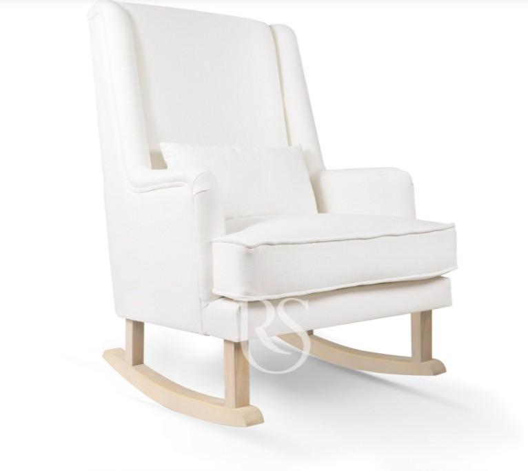 Rocking Seats - Bliss Rocker snow white, natural legs