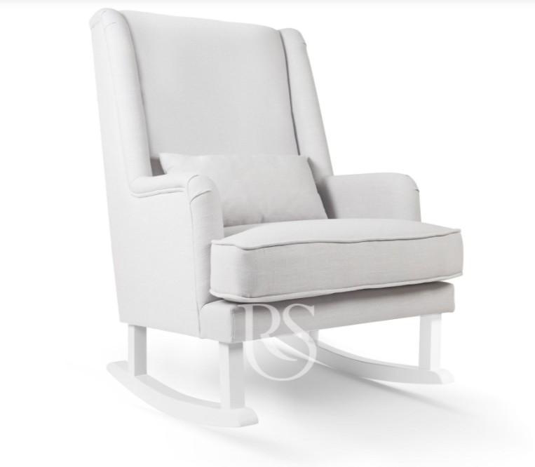 Rocking Seats - Bliss Rocker silver grey, white legs