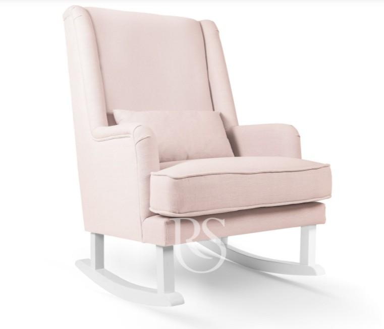 Rocking Seats - Bliss Rocker blush pink, white legs