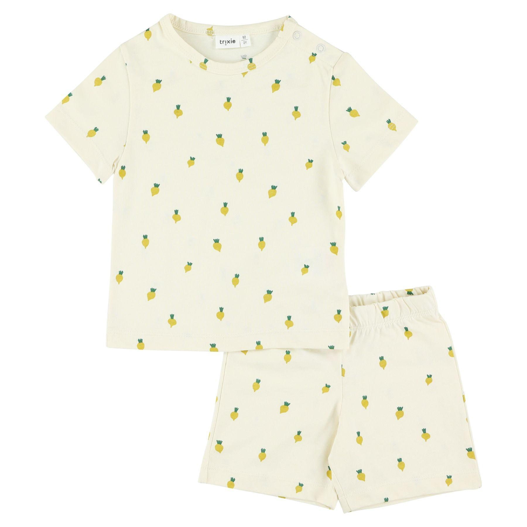 Trixie - 2-delige pyjama kort - Tiny Turnip - 6Y