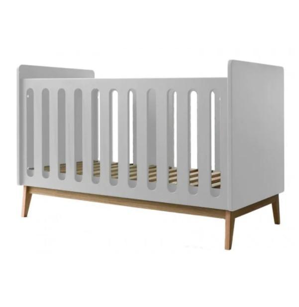 Pericles - Baby Bed 120X60Cm Omvormbaar Tot Zitbank Pure Wit