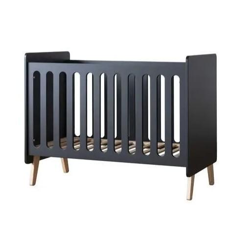 Pericles - Baby Bed 120X60Cm Style Black Omvormbaar Tot Zitbank
