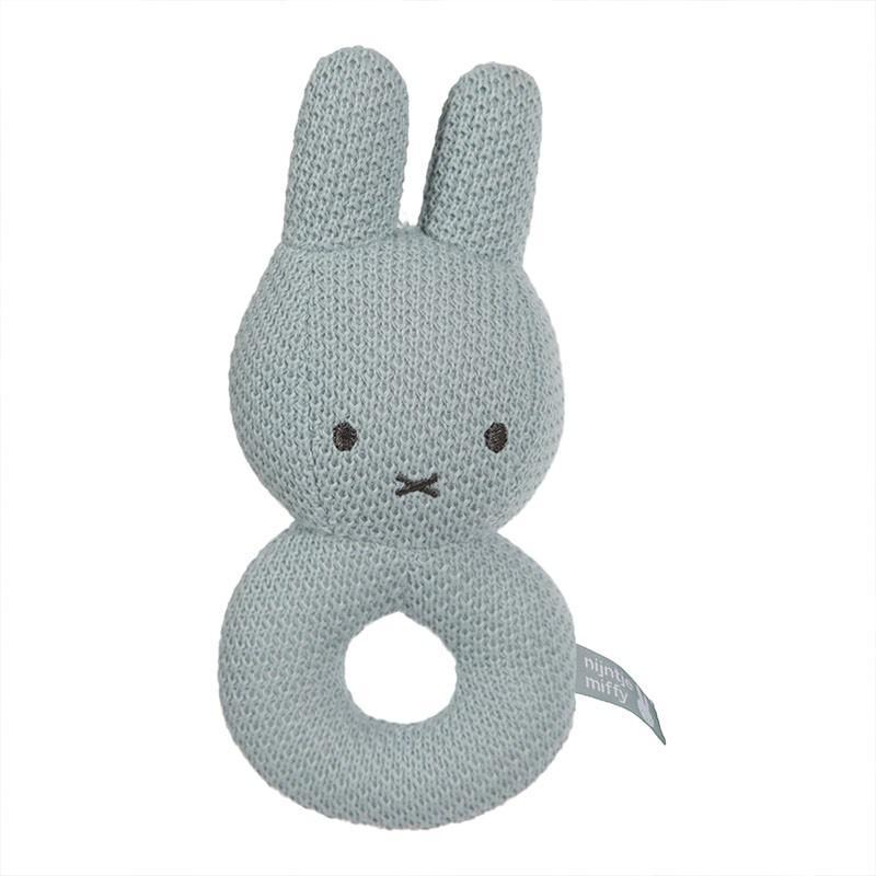 Nijntje - Miffy - Rammelaar Nijntje Green Knit
