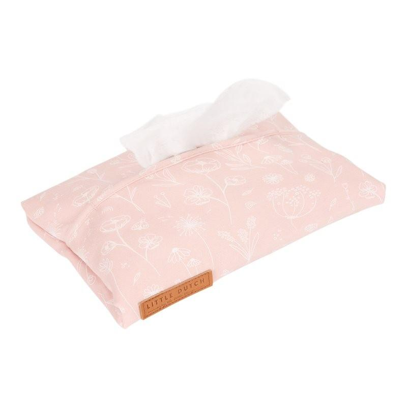 Little Dutch - Babydoekjes hoes - wild flower pink