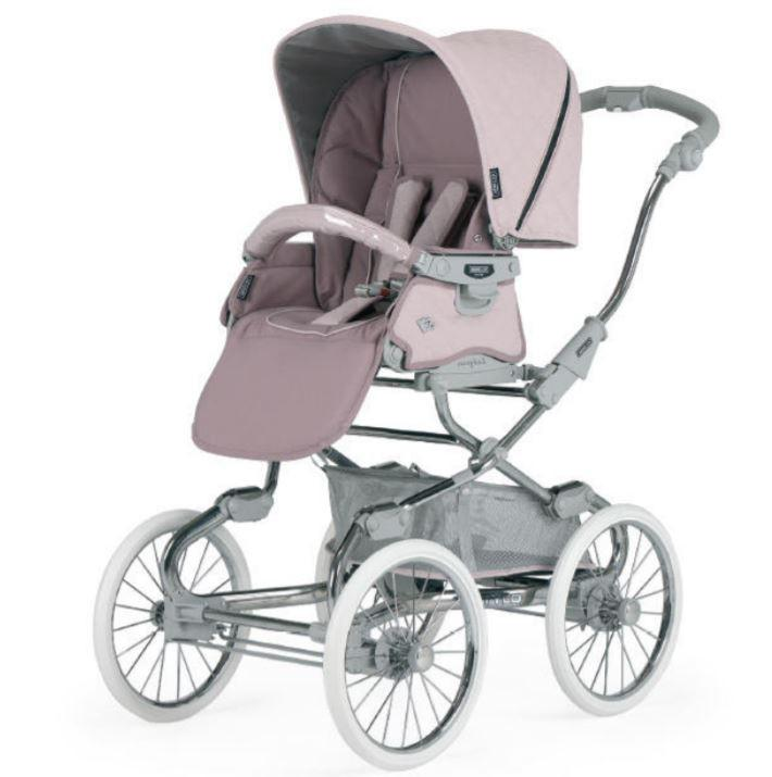 Bebecar - Kinderwagen Stylo Class+ Specials  Soft Pink/chrome-black Sp954