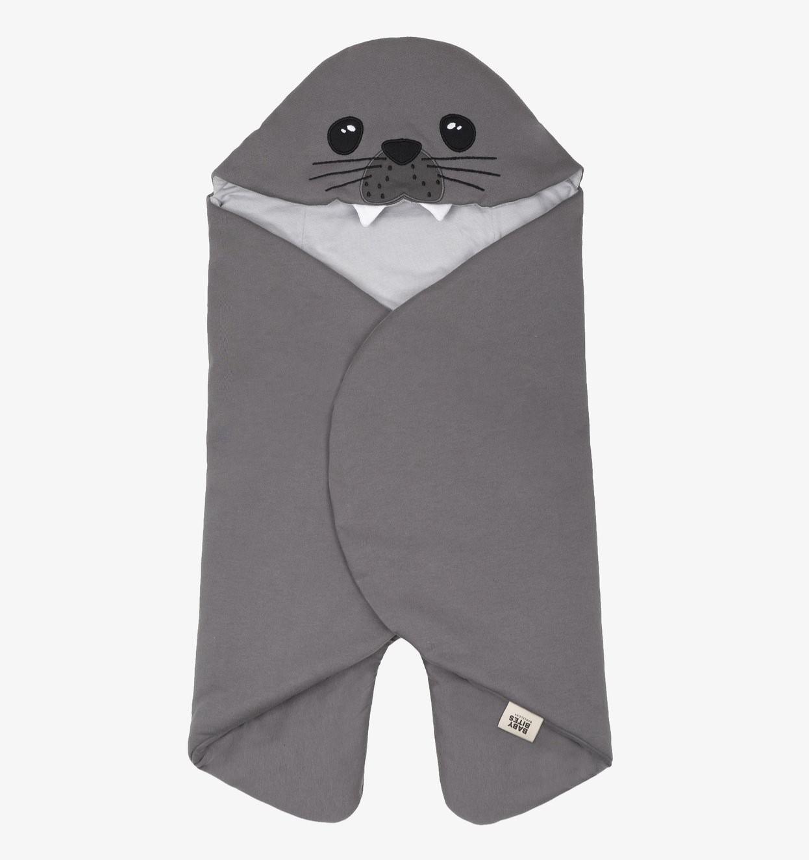 Baby Bites - Seal Lullaby 1-6M - Dark Grey