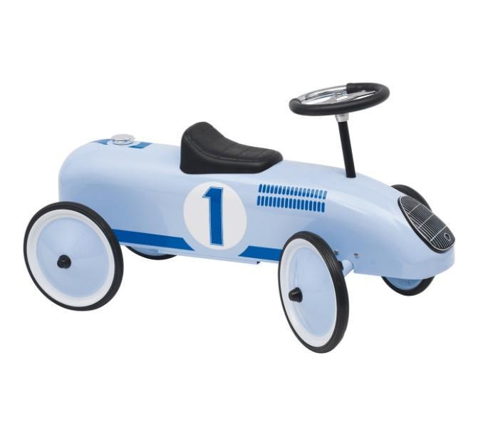 Goki - Loopauto: Blauw Met Nummer 1, vanaf 1 jaar
