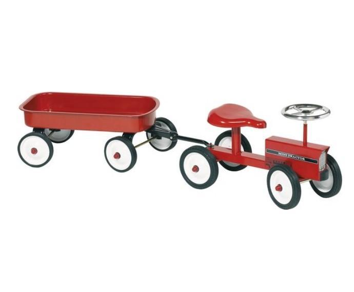 Goki - Loopauto: Tractor Met Aanhangwagen