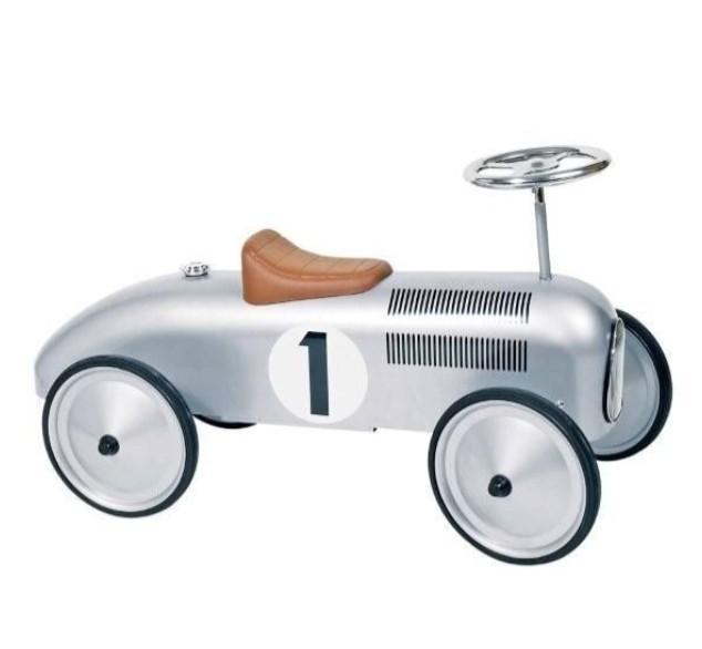 Goki - Loopauto: Nummer 1 Zilver, vanaf 1 jaar