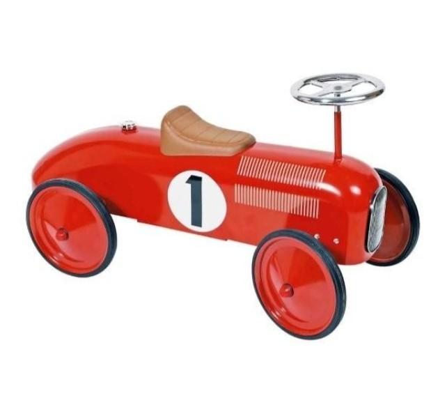 Goki - Loopauto: Nummer 1 Rood