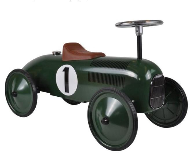 Goki - Loopauto: Groen Met Nummer 1, vanaf 1 jaar