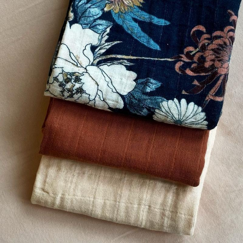 Coco & Pine - Cloth 60X60 Poppy 3 Pack Pink/Terracotta/Poppy Tetra Collection