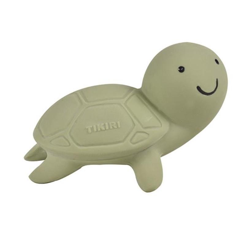 Tikiri - Mijn Eerste Oceaandiertje Schildpad 5Cm, In Natuurlijk Rubber, Met Belletje 0+