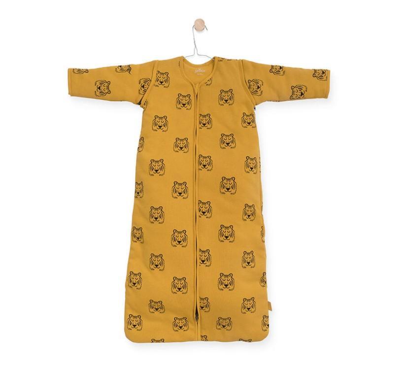 Jollein - Baby slaapzak 90cm Tiger mustard met afritsbare mouw