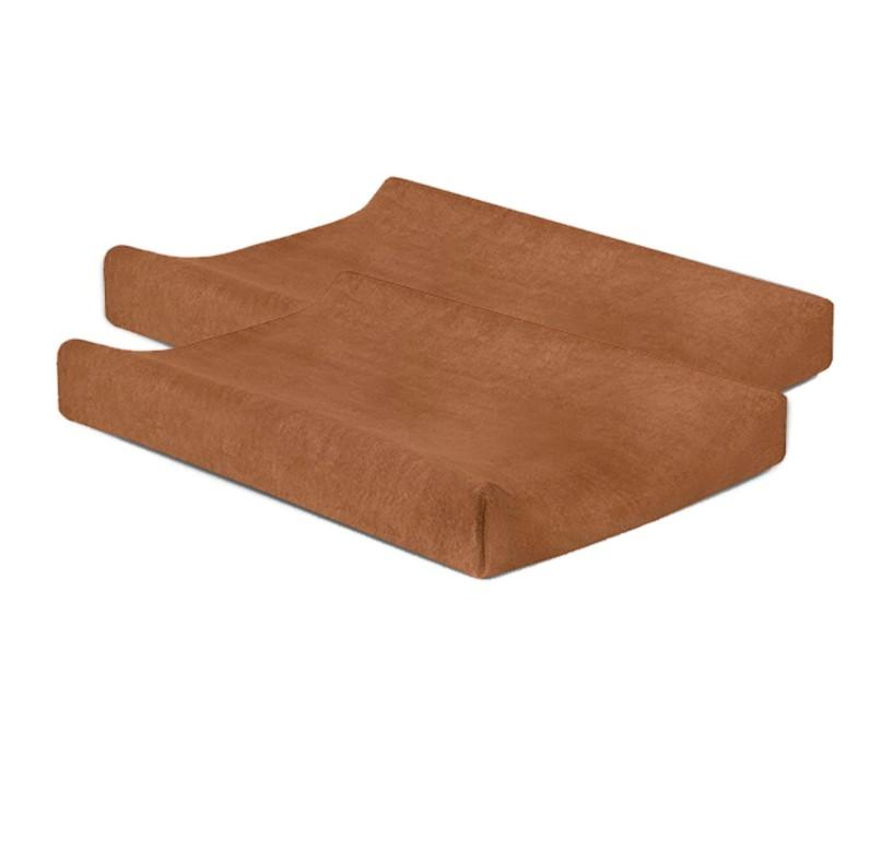 Jollein - Aankleedkussenhoes badstof 50x70 caramel (2pack)