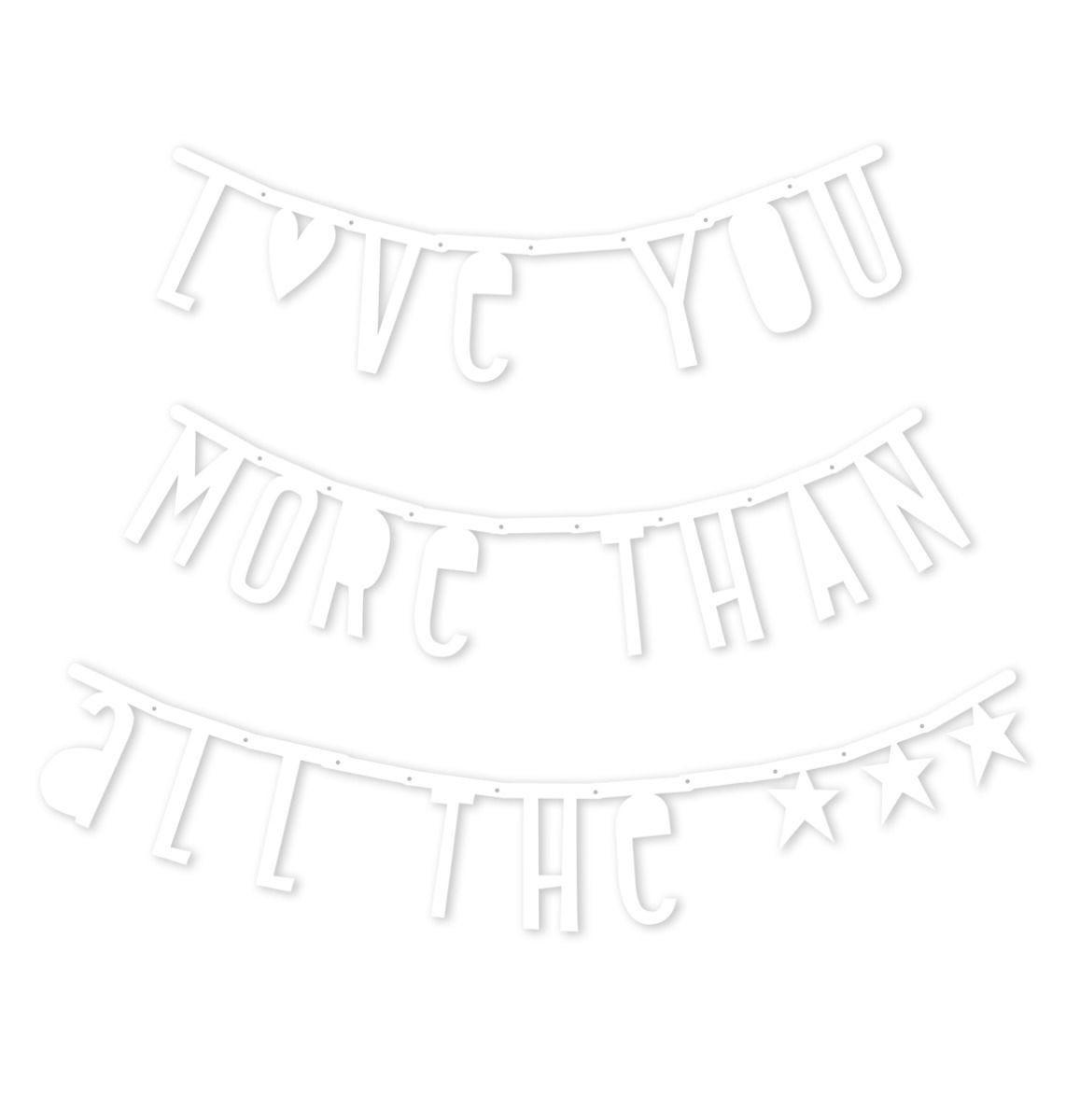 A Little Lovely Company - Letter banner: White