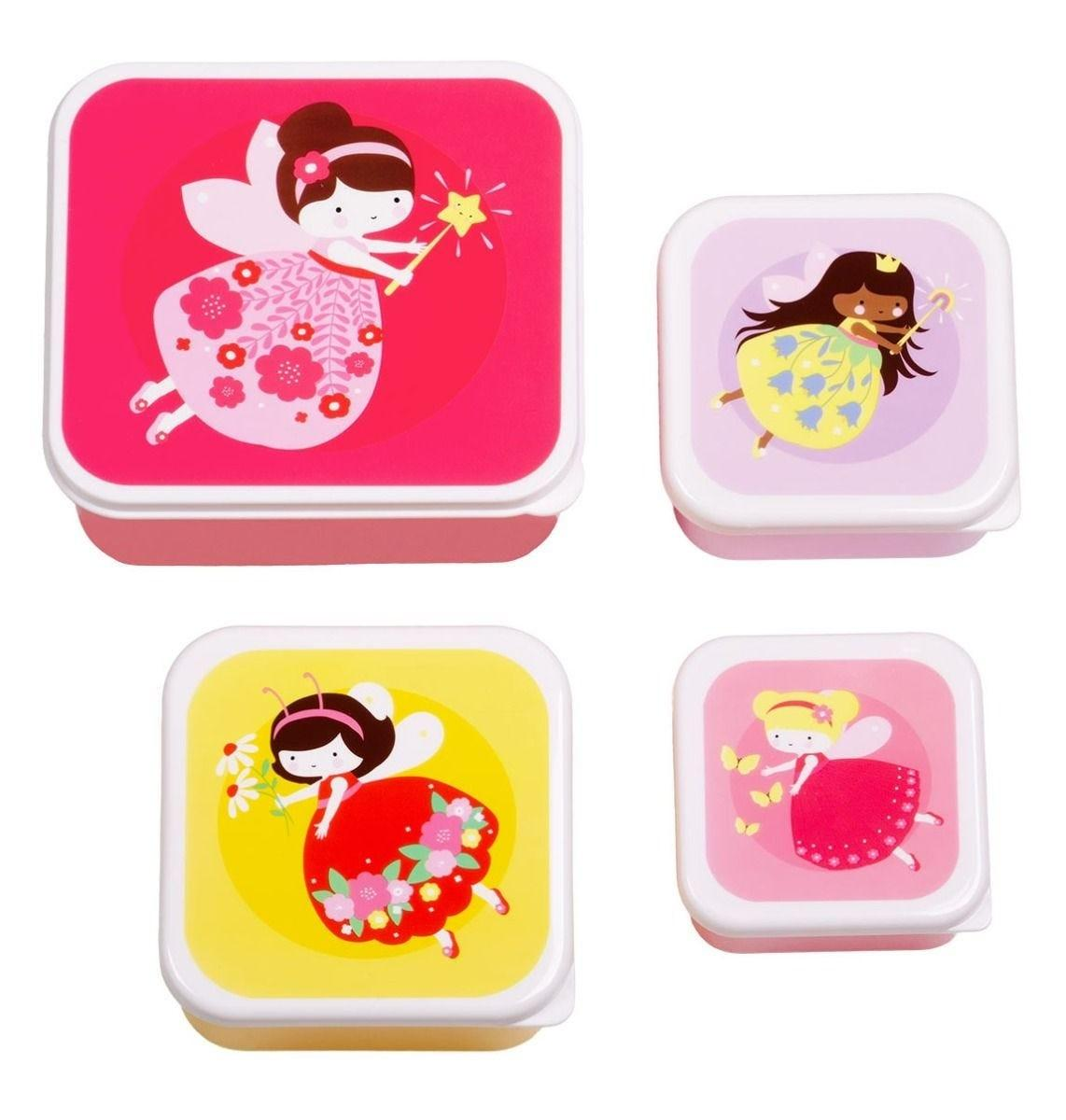 A Little Lovely Company - Lunch & snack box set: Fairies