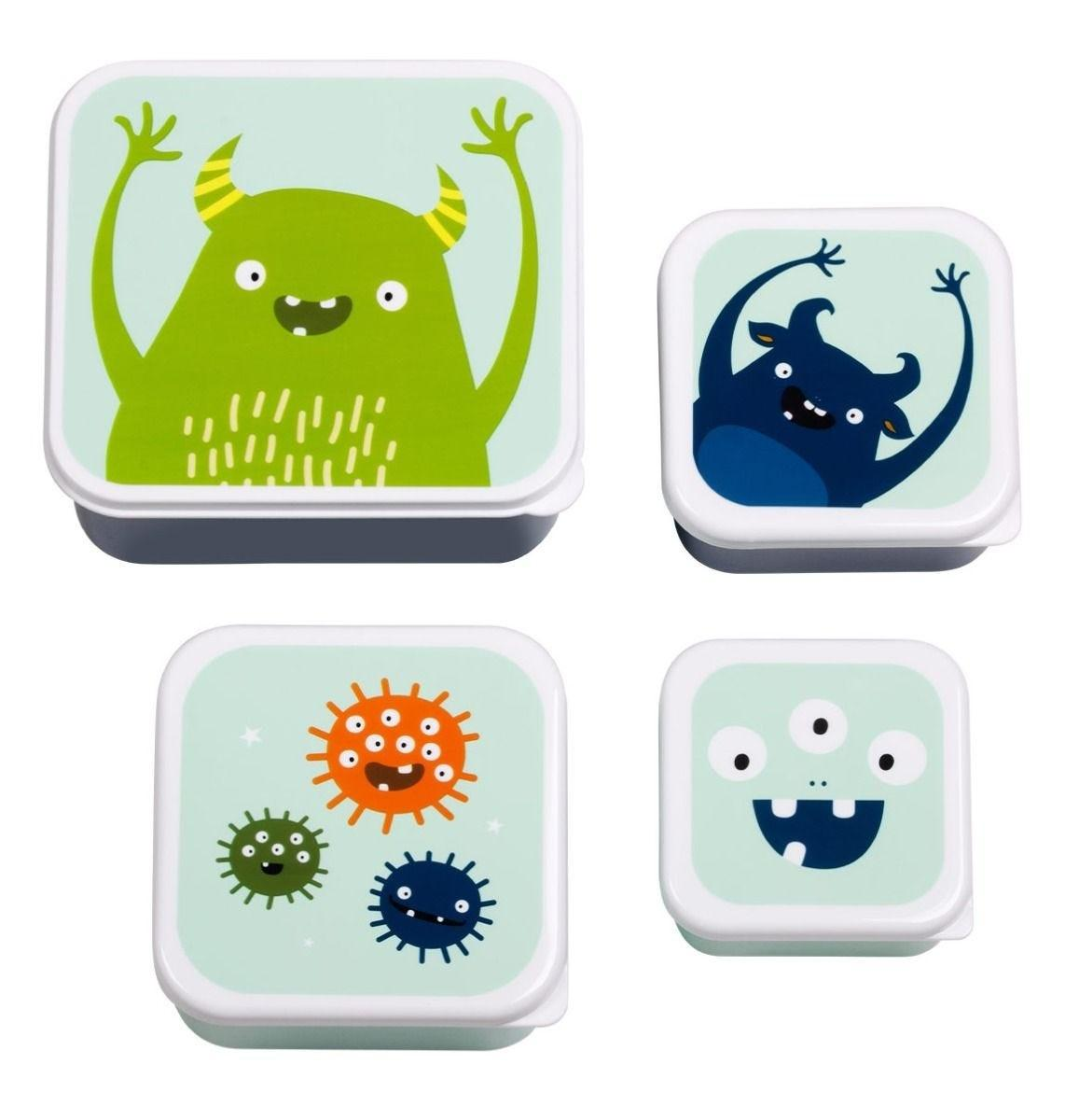 A Little Lovely Company - Lunch & snack box set: Monsters