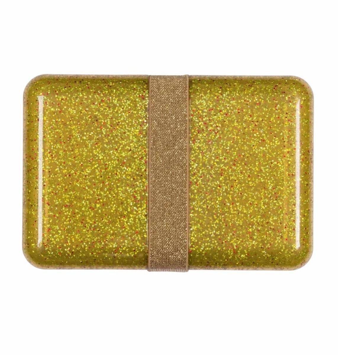 A Little Lovely Company - Lunch box: Glitter - gold