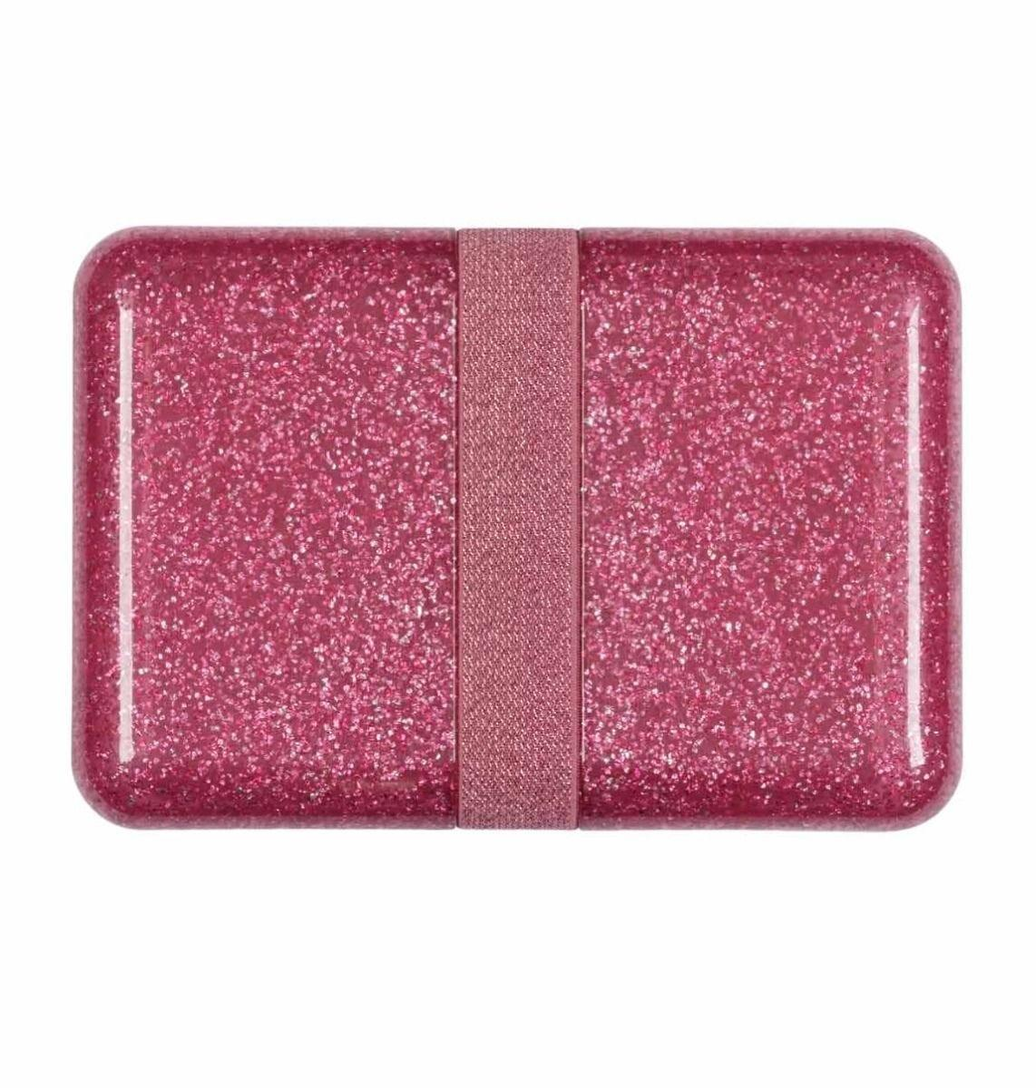 A Little Lovely Company - Lunch box: Glitter - pink