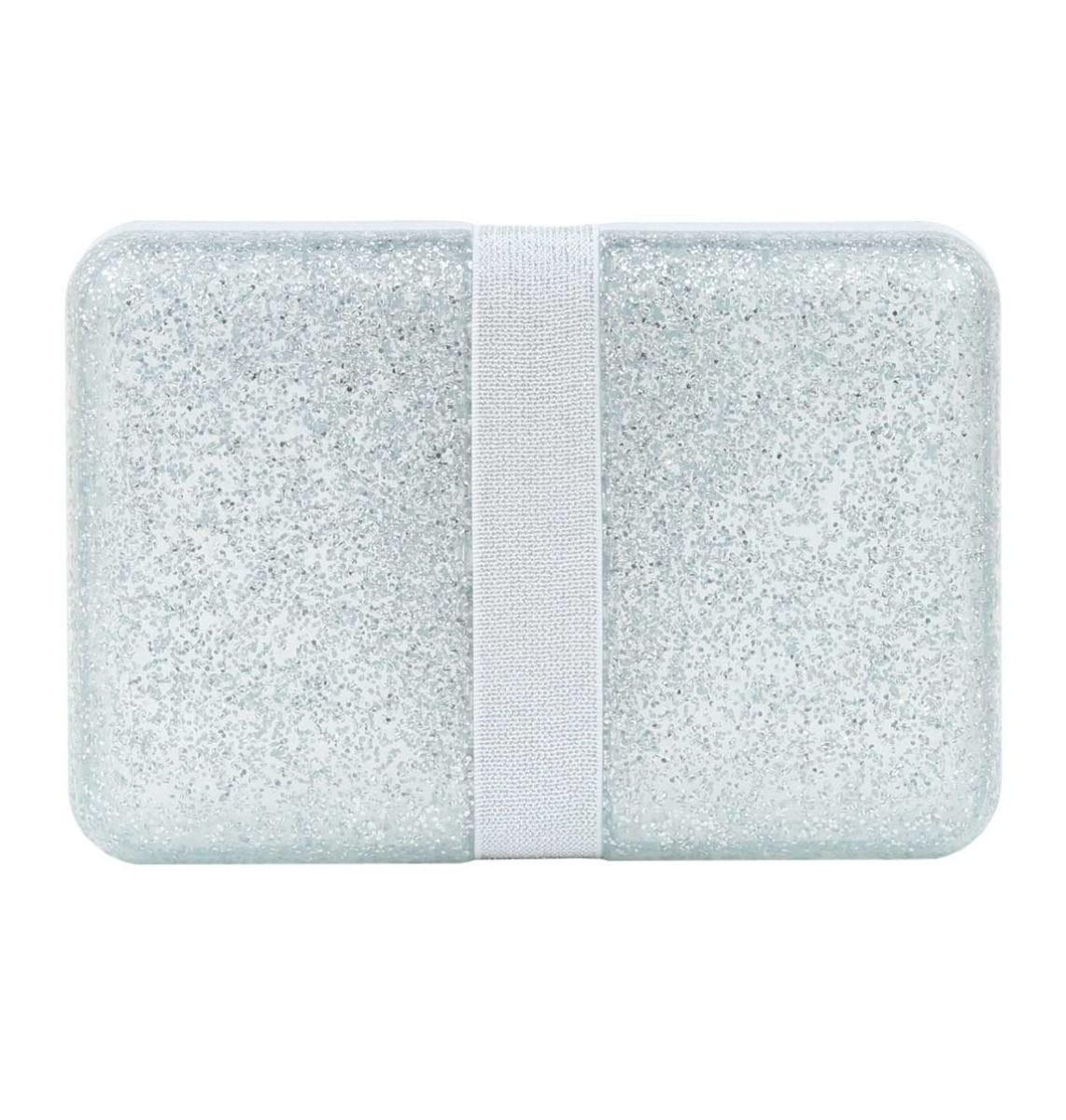 A Little Lovely Company - Lunch box: Glitter - silver