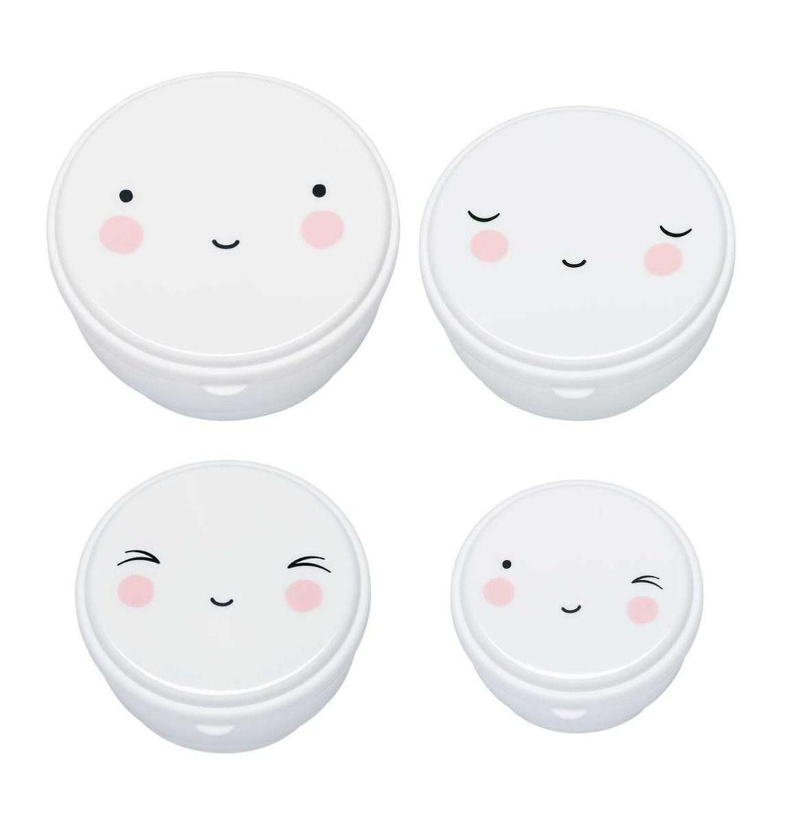 A Little Lovely Company - Snack box: Happy face