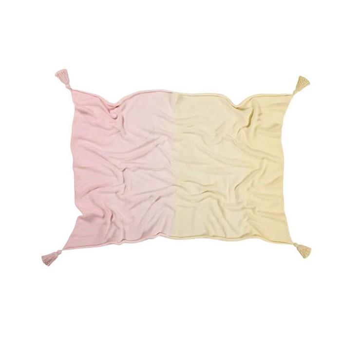 Lorena Canals - Baby Deken Ombre Vanilla-Soft Pink 100 x 120