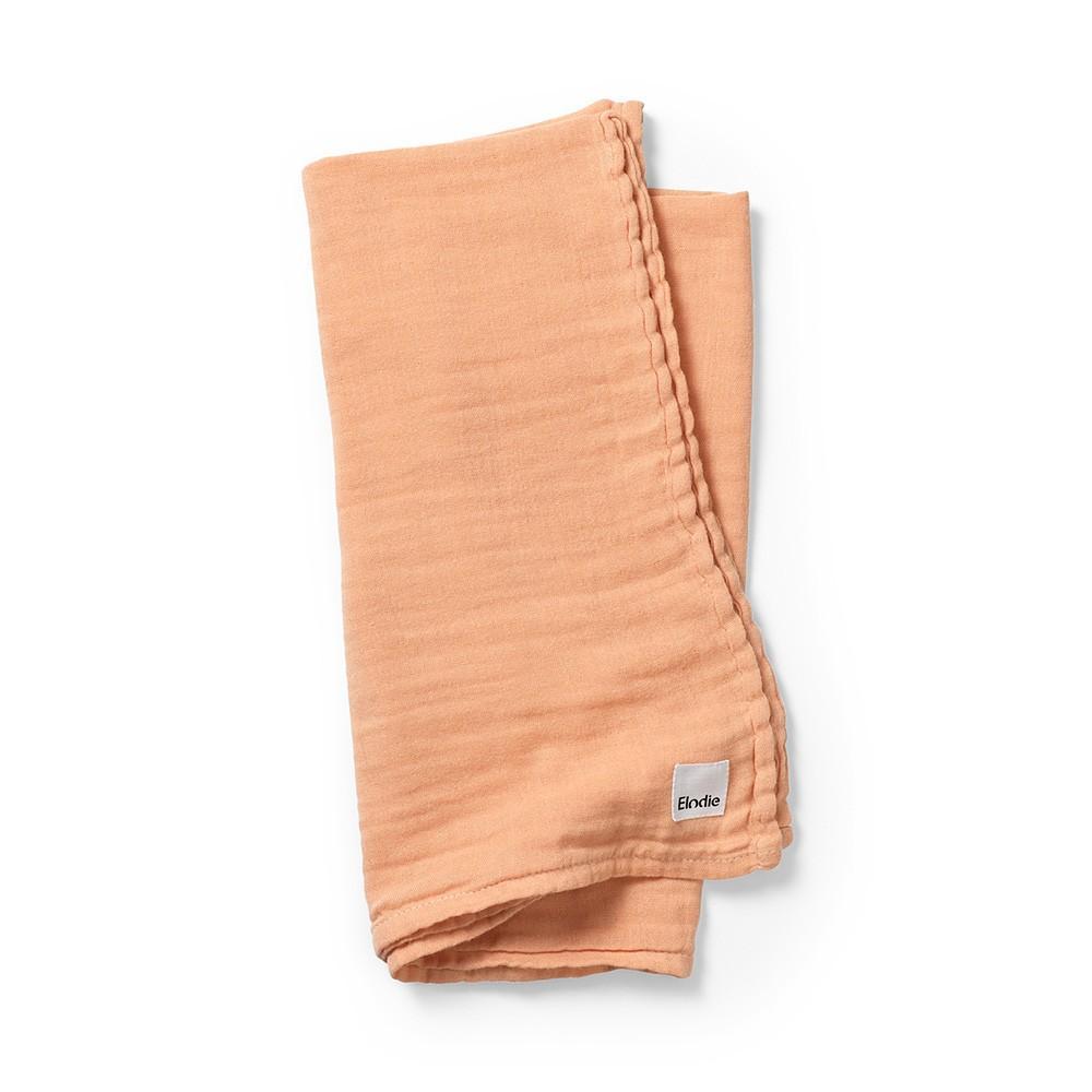 Elodie - Bamboe Hydrofiele doek Amber Apricot