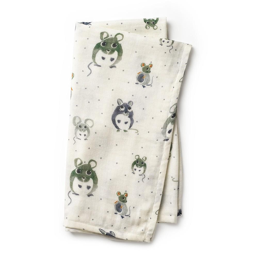 Elodie - Bamboe Hydrofiele doek Forest Mouse