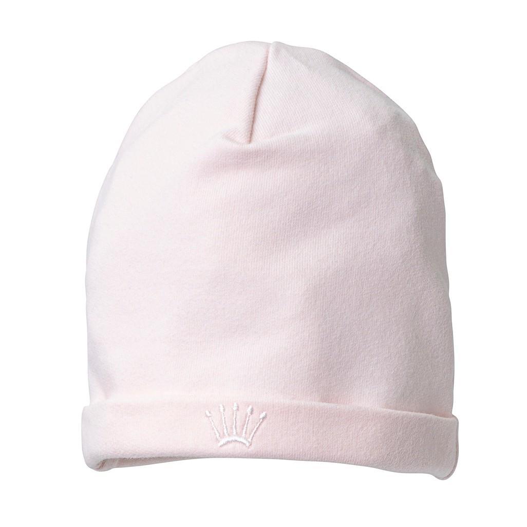First - Pretty Pink - Eerste roze jersey materniteitsmutsje - 36