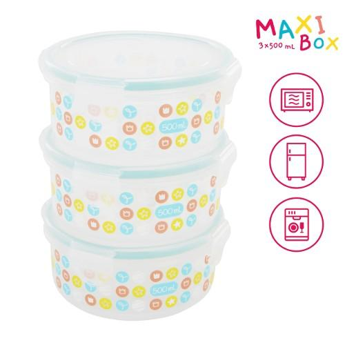 Badabulle - Container Set 3 X 500ml