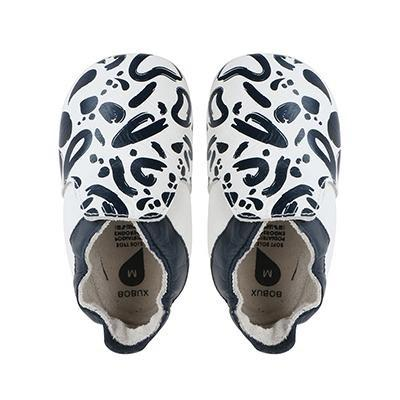 Bobux - Soft Soles - Abstract navy + white - S