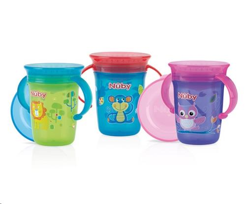 Nuby - 360gr Wonder Cup met handvaten - 240ml - 6m+