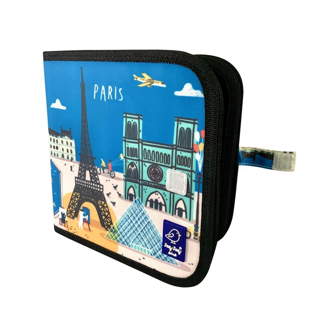 Jaq Jaq Bird - Color It & Go Parijs 20X20Cm Boekje Met 8 Pagina's, Uitwisbaar