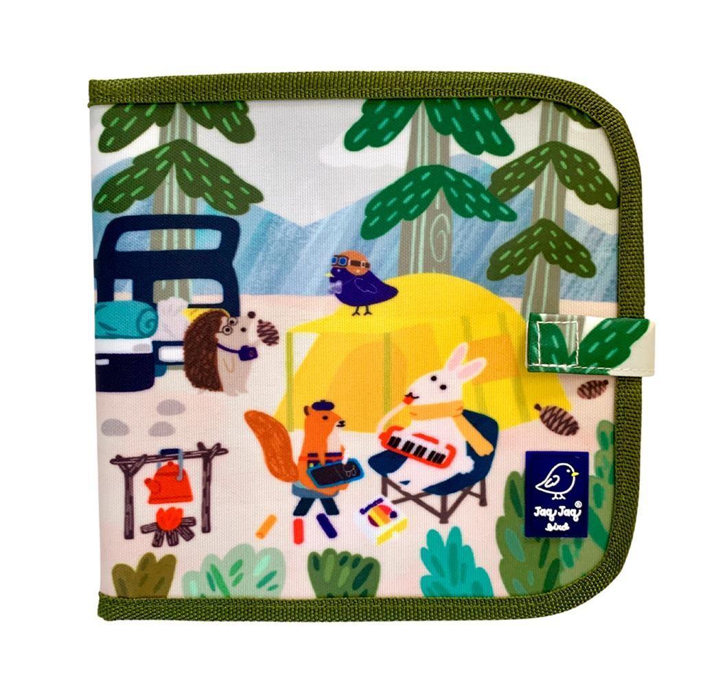 Jaq Jaq Bird - Doodle It & Go Jjb & Friends Camping 20X20Cm Boekje Met 8 Pagina's, Uitwisbaar