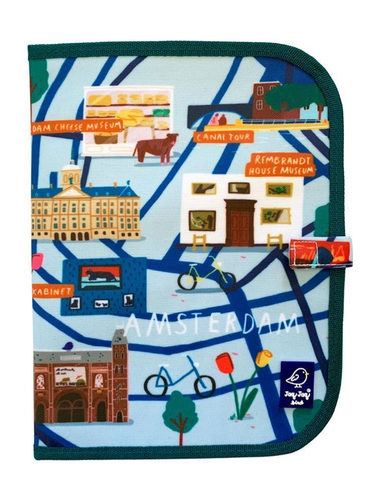 Jaq Jaq Bird - Doodle It & Go Placemat Amsterdam 20X20Cm Uitwisbaar