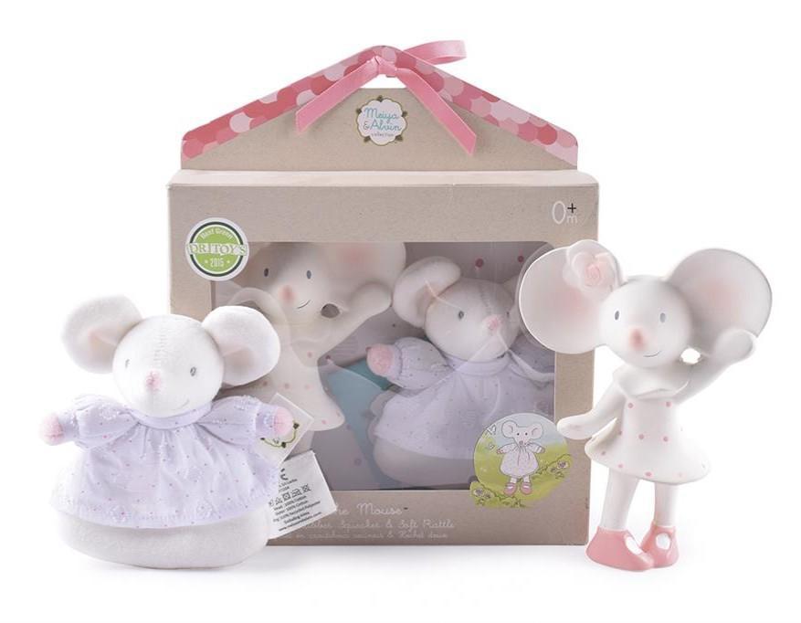 Meiya & Alvin - Muis Meiya / Box Set: Muis Meiya Met Squeaker 16Cm & Rammelaar Soft 13Cm
