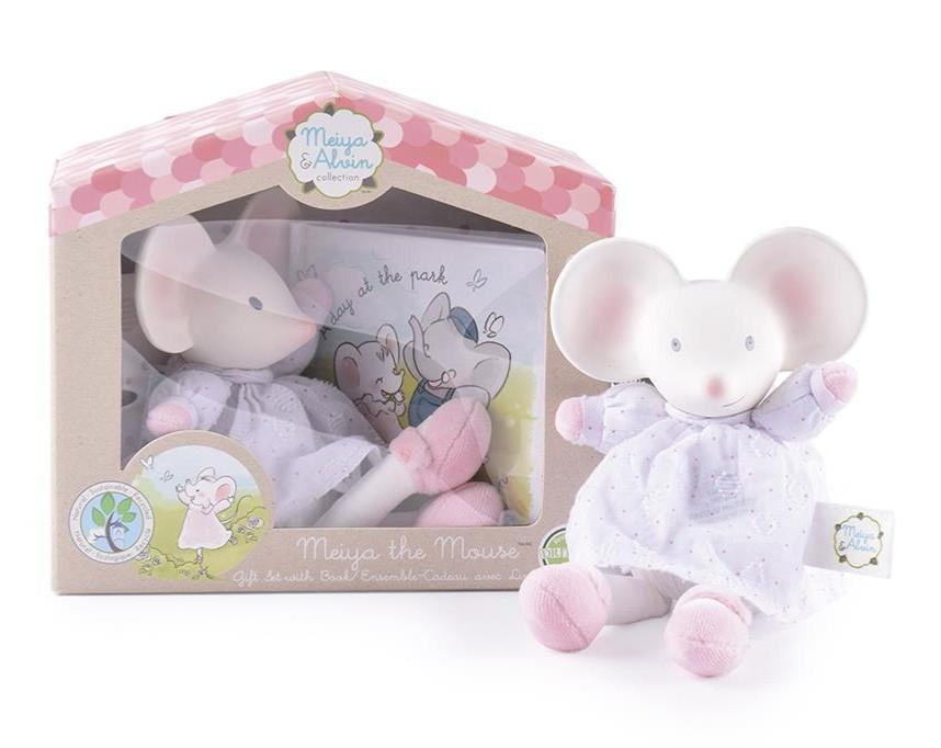Meiya & Alvin - Muis Meiya / Box Set: Muis Meiya Soft Toy Met Hoofdje 19Cm & Boekje (Nederlandstalig)