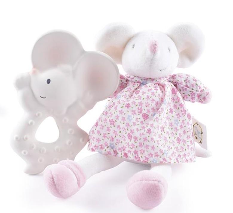 Meiya & Alvin - Muis Meiya / Box Set: Muis Meiya Soft Toy Mini 22 Cm & Bijtring 11Cm