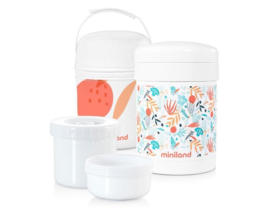 Miniland - Baby - Voedselthermos 700, Met 2 Potjes (350 -200)