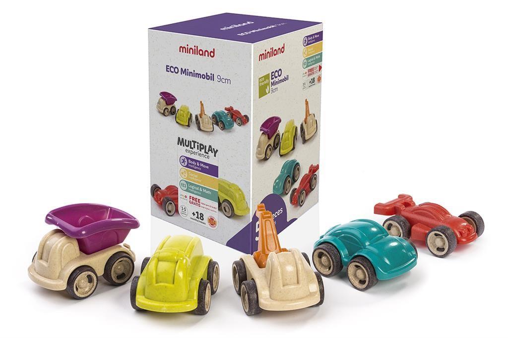 Miniland - Eco - Minimobiel 12cm, 4-delig, vanaf 18M