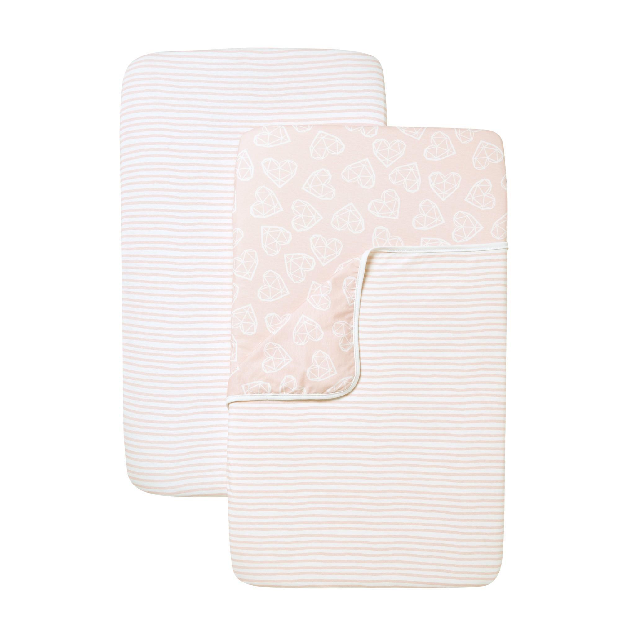 Shnuggle - Air Kinderbedje Set 2 Hoeslakens + 1 Lakentje Pink