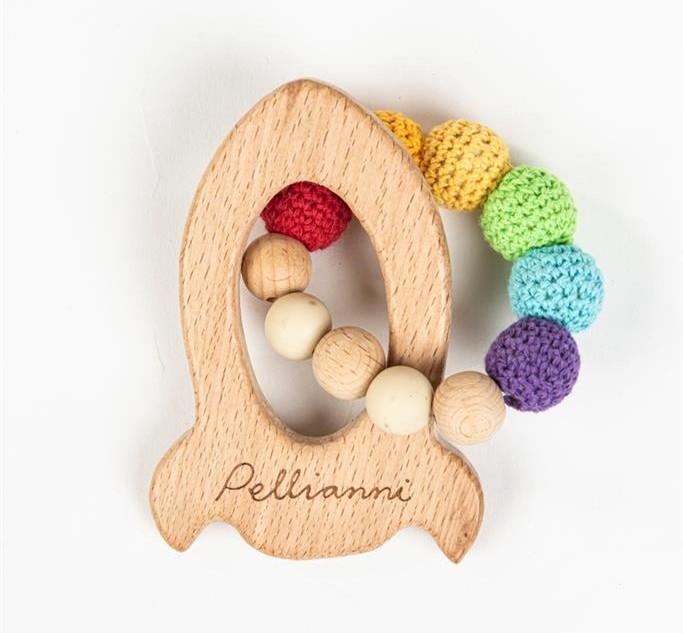 Pellianni - Bijtring: Raket Regenboogkleuren, 1+