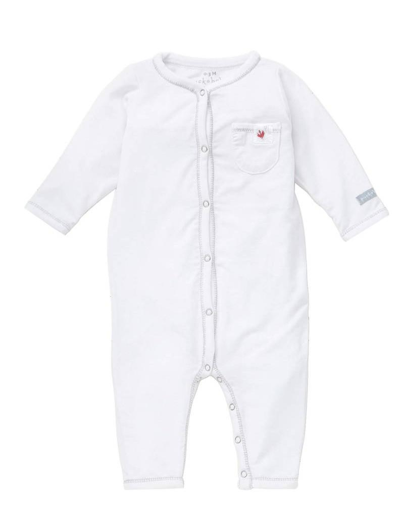 Puckababy - Pyjama - 6-12 Months - Tencel White