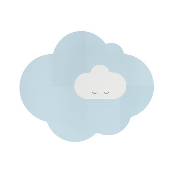 Quut - Playmat - Head in the clouds L Dusty Blue